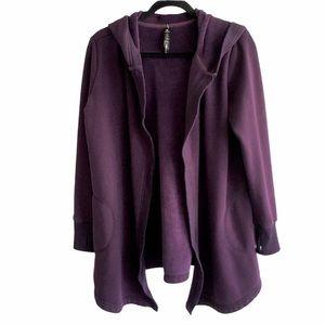90 Degree by Reflex Open Cardigan Hood Purple S